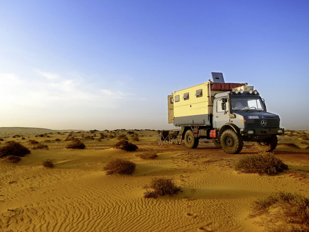 All-around the world with the Mercedes-Benz Unimog