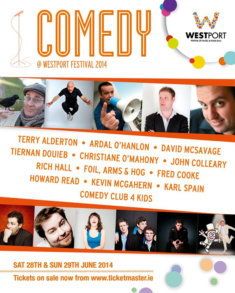 Rib-Cracking Comedy Line-Up for Westport Festival