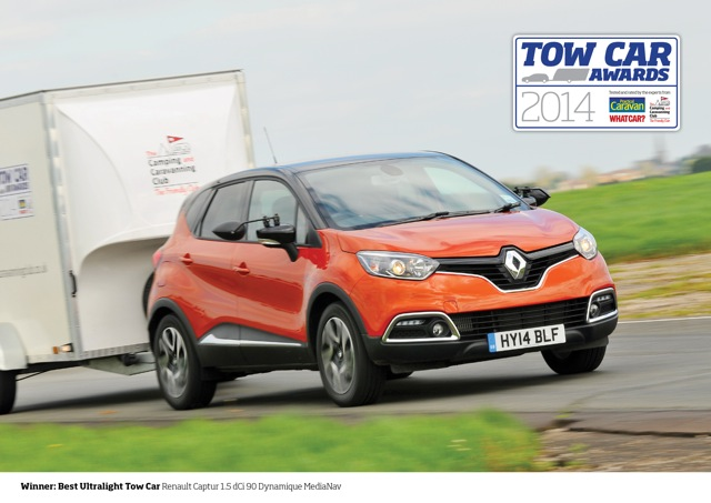 RENAULT'S CROSSOVER CAPTUR PULLS IN TOW CAR PRIZE