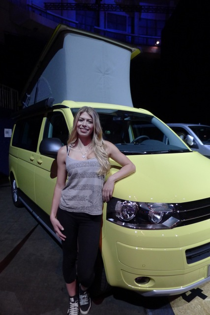 Hannah and her Volkswagen California!