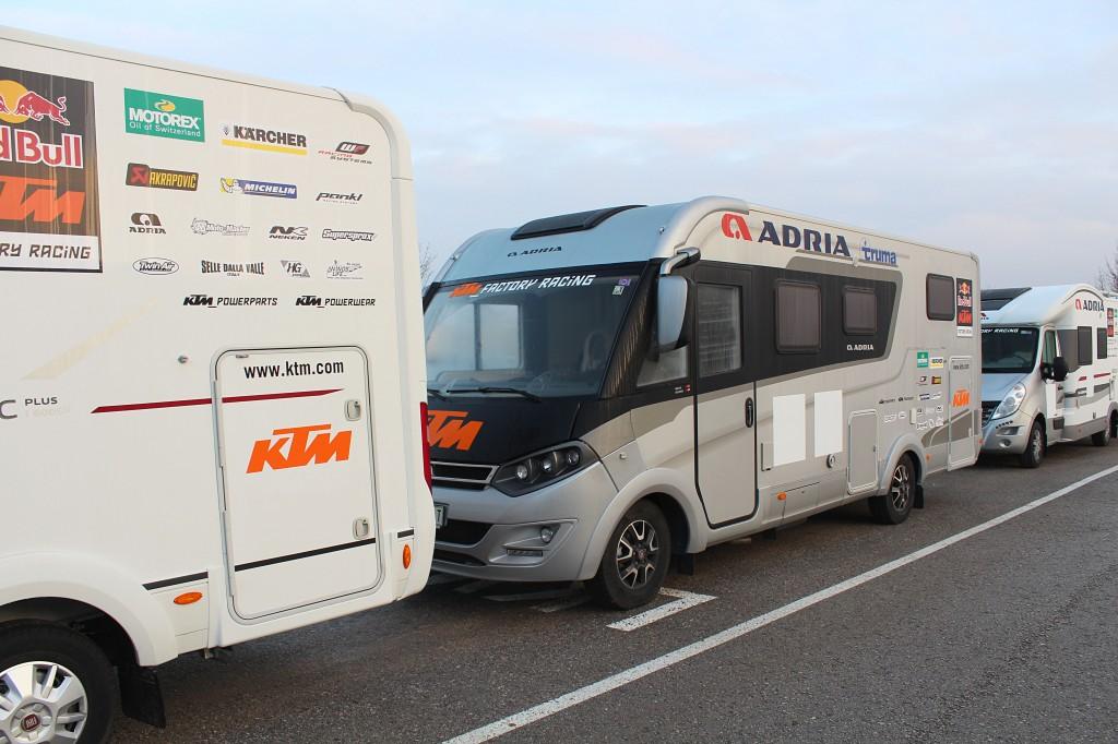 Adria backs KTM Factory Racing Team for Dakar 2015