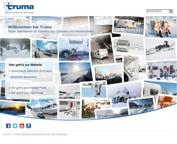 Truma's new homepage web design