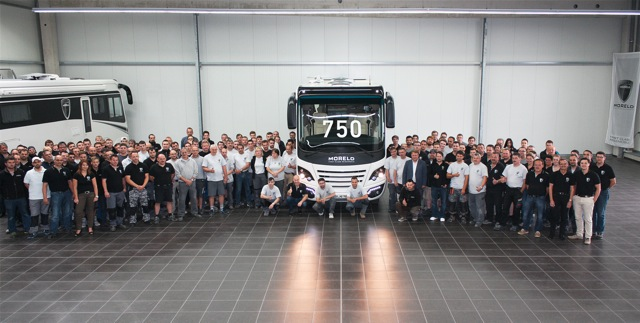 MORELO puts 750th luxury motorhome on the road