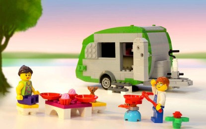 World's largest caravan built with interlocking plastic LEGO bricks