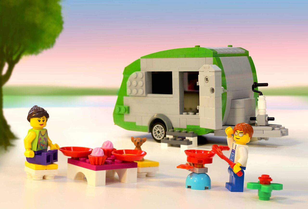 World's largest caravan built with interlocking plastic LEGO bricks