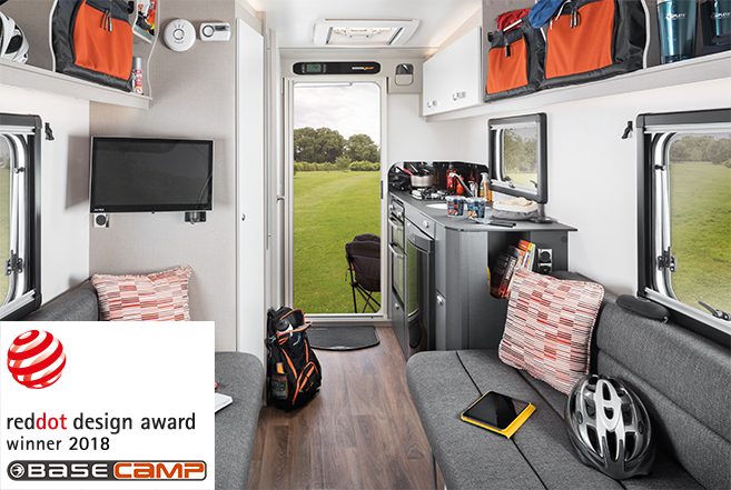 Swift Basecamp wins prestigious Red Dot Design Award