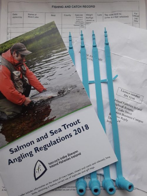 Salmon and sea trout anglers reminded to submit 2018 logbook and gills
