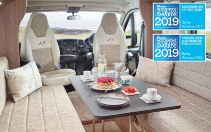 Bailey leisure vehicles claim Practical Caravan Magazine 'Tourer of the Year' & Practical Motorhome Magazine 'Motorhome of the Year' 2019 titles