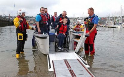 Ireland's first ever wheelchair accessible V20 powerboat launched