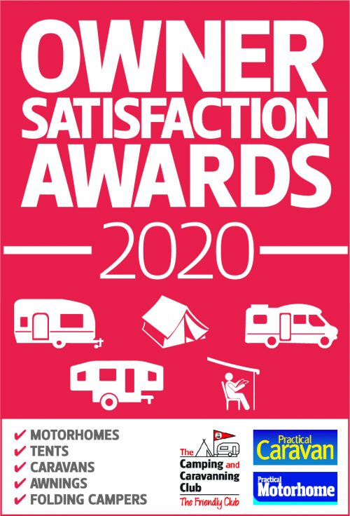Winners of the 2020 Camping & Caravanning Club Owner Satisfaction Awards
