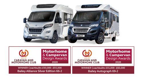 Bailey motorhomes shine once again in Motorhome & Campervan Design Awards 2020