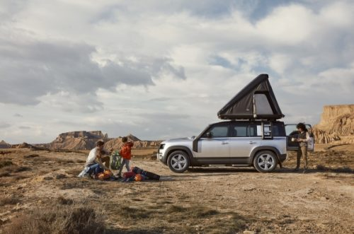 Land Rover teams up with Autohome to develop a bespoke roof tent for new Defender