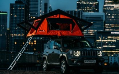 Jeep Thrills – world's most extreme staycation hotspot – a hanging tent!