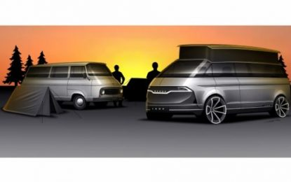 One of five classic ŠKODA models that have been re-imagined includes the 1203 Camper
