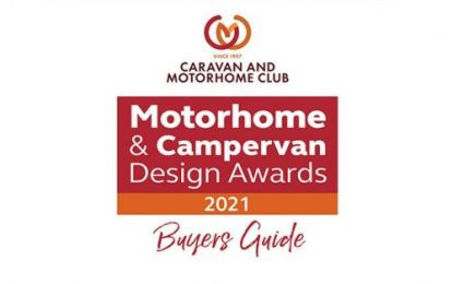 Bailey motorhomes shine in new Caravan & Motorhome Club Design Awards Buyers Guide 2021