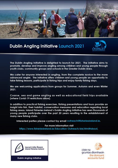 Call for Youths to learn fishing with the Dublin Angling Initiative