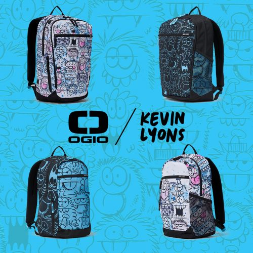 OGIO has teamed up with acclaimed artist Kevin Lyons to add a touch of street art fun to its latest collaboration