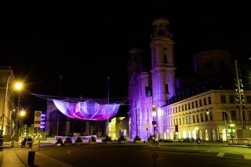 Mercedes-Benz transforms Munich's Odeonsplatz with lively immersive art experience